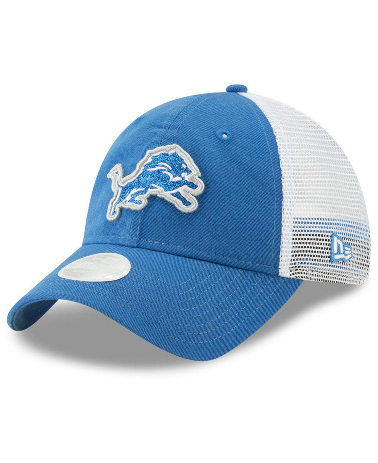best loved c47b6 79f66 ... cheap ktz. womens blue detroit lions trucker shine 9twenty snapback cap  8ee81 6ac4f
