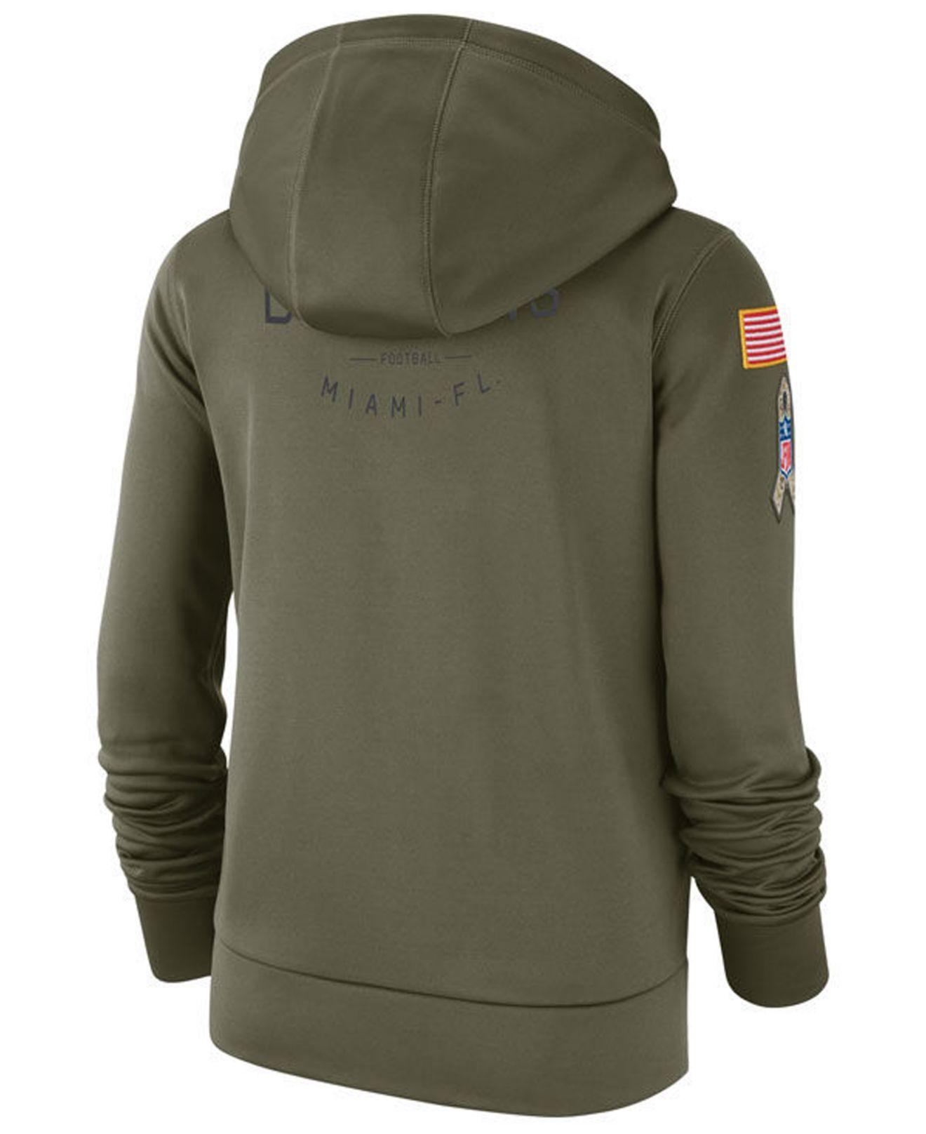 new style 1d9c8 15bf1 Lyst - Nike Miami Dolphins Salute To Service Therma Hoodie ...