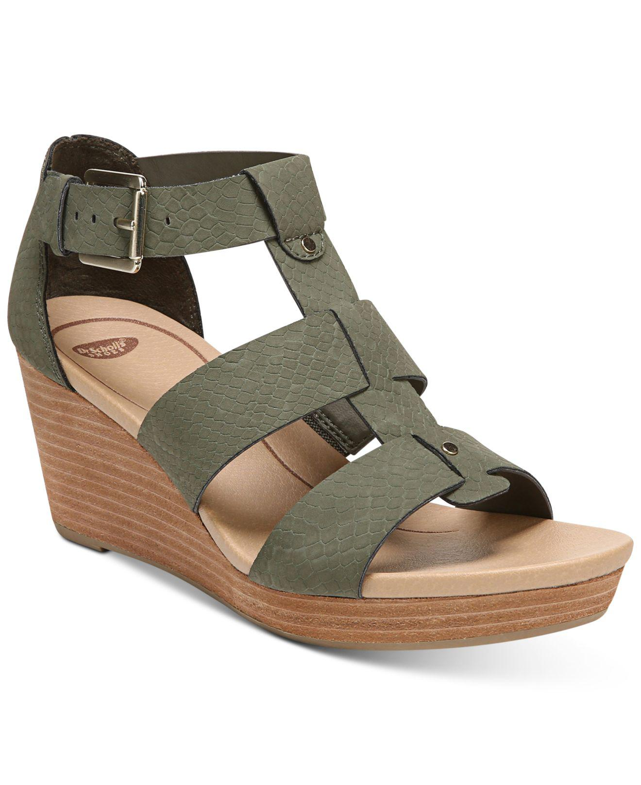 5dfe2844cc1 Lyst - Dr. Scholls Barton Wedge Sandals in Green - Save 51%