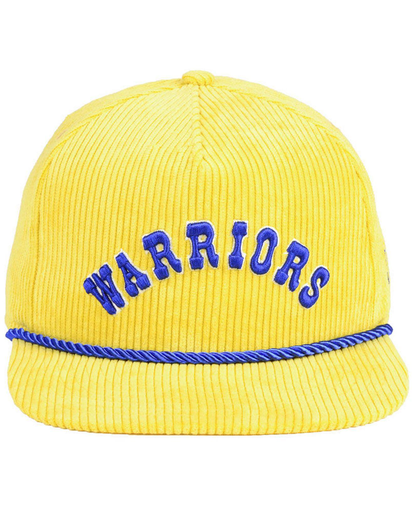 reputable site 2bf8c 6a6d7 Lyst - KTZ Golden State Warriors Hardwood Classic Nights Cords 9fifty  Snapback Cap in Yellow for Men