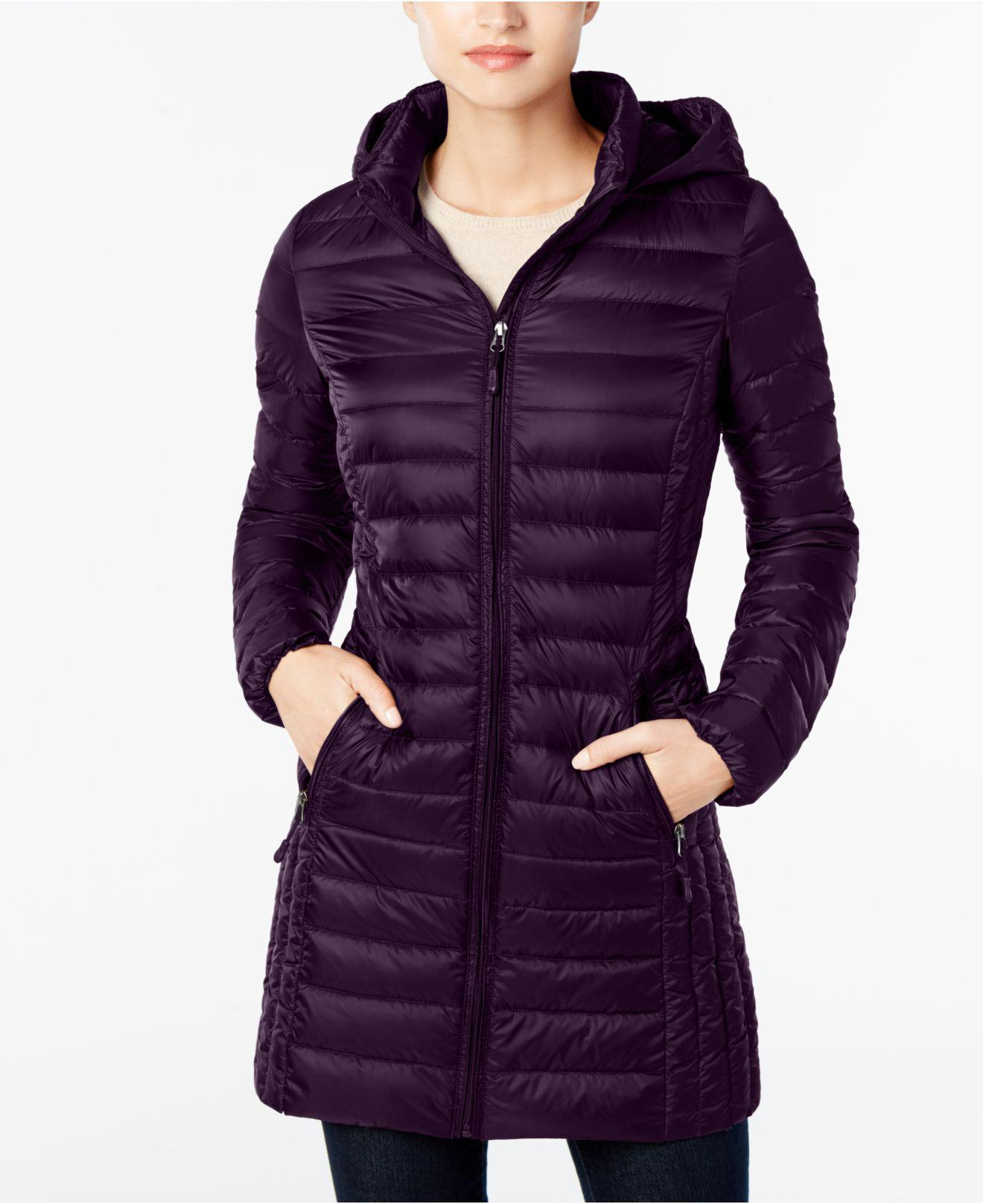 32 Degrees Packable Down Puffer Coat In Purple Lyst