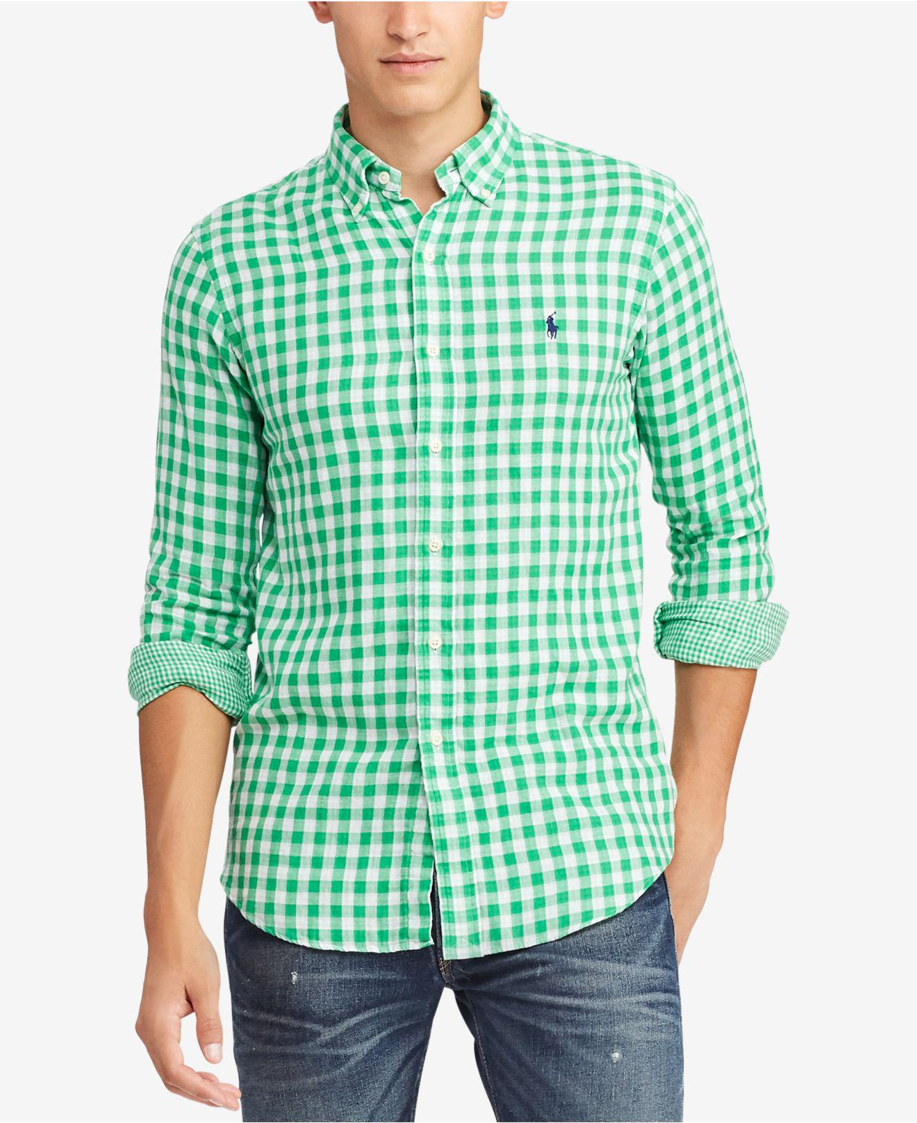 d62f304565d7 Lyst - Polo Ralph Lauren Gingham Classic Fit Button-down Shirt in ...