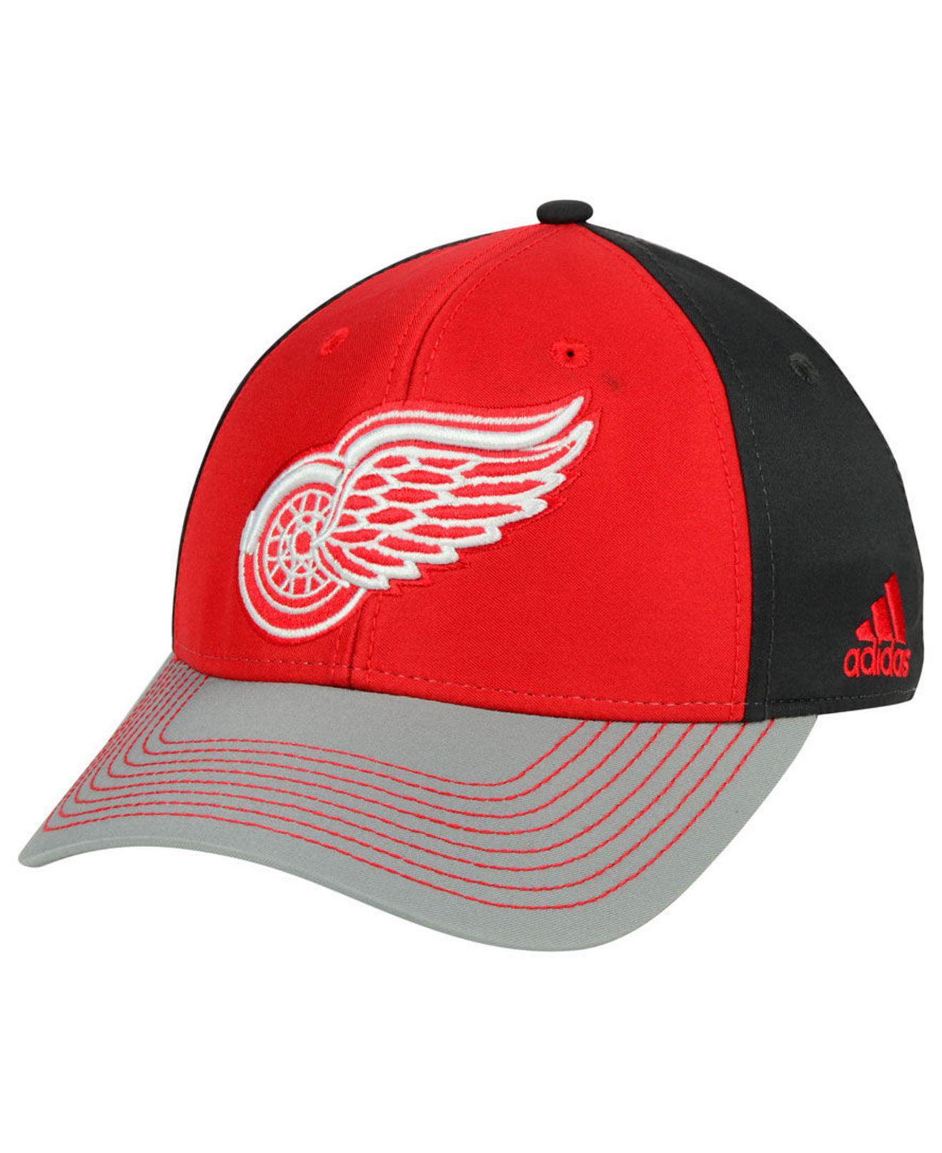236db2b4710c2 Lyst - adidas Detroit Red Wings 2tone Stitch Flex Cap in Red for Men