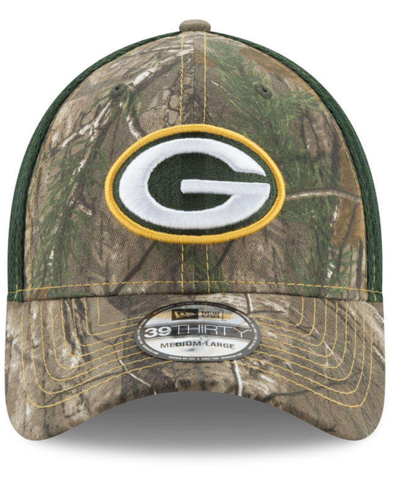5d2b7ce12c9 Lyst - Ktz Green Bay Packers Realtree Camo Team Color Neo 39thirty Cap in  Green for Men