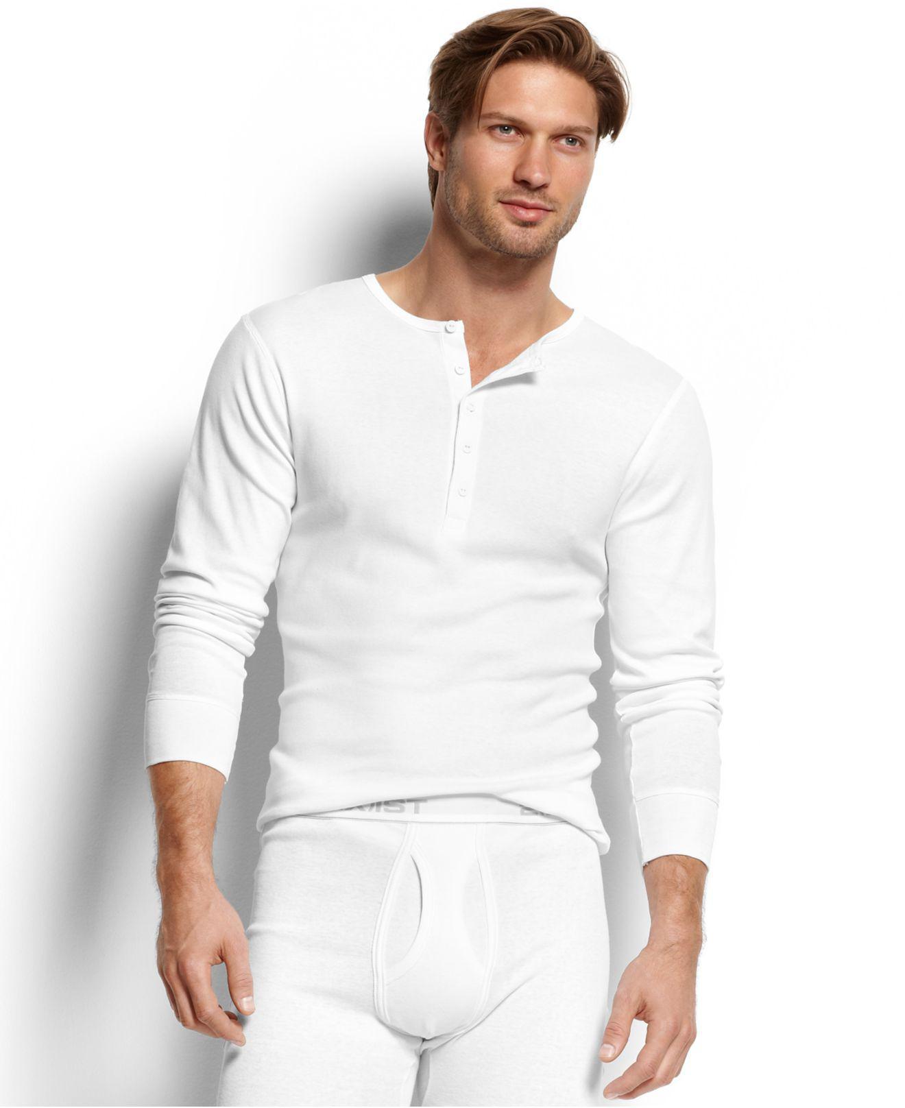 1ea60deb 2xist Men's Essential Range Long-sleeve Henley in White for Men - Lyst