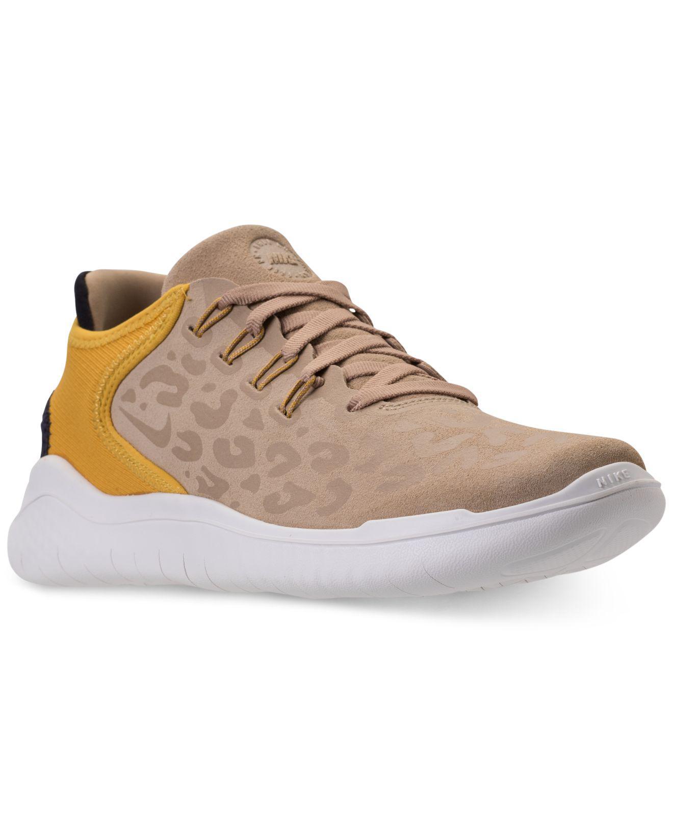 Nike. Women's Gray Free Rn 2018 Wild Suede Running Sneakers ...