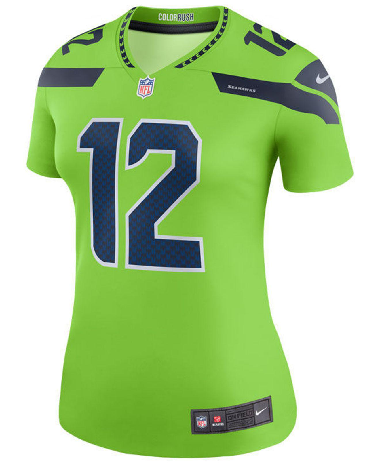 5e4d4a13a97 Nike Seattle Seahawks Color Rush Legend Jersey in Green - Save 47% - Lyst