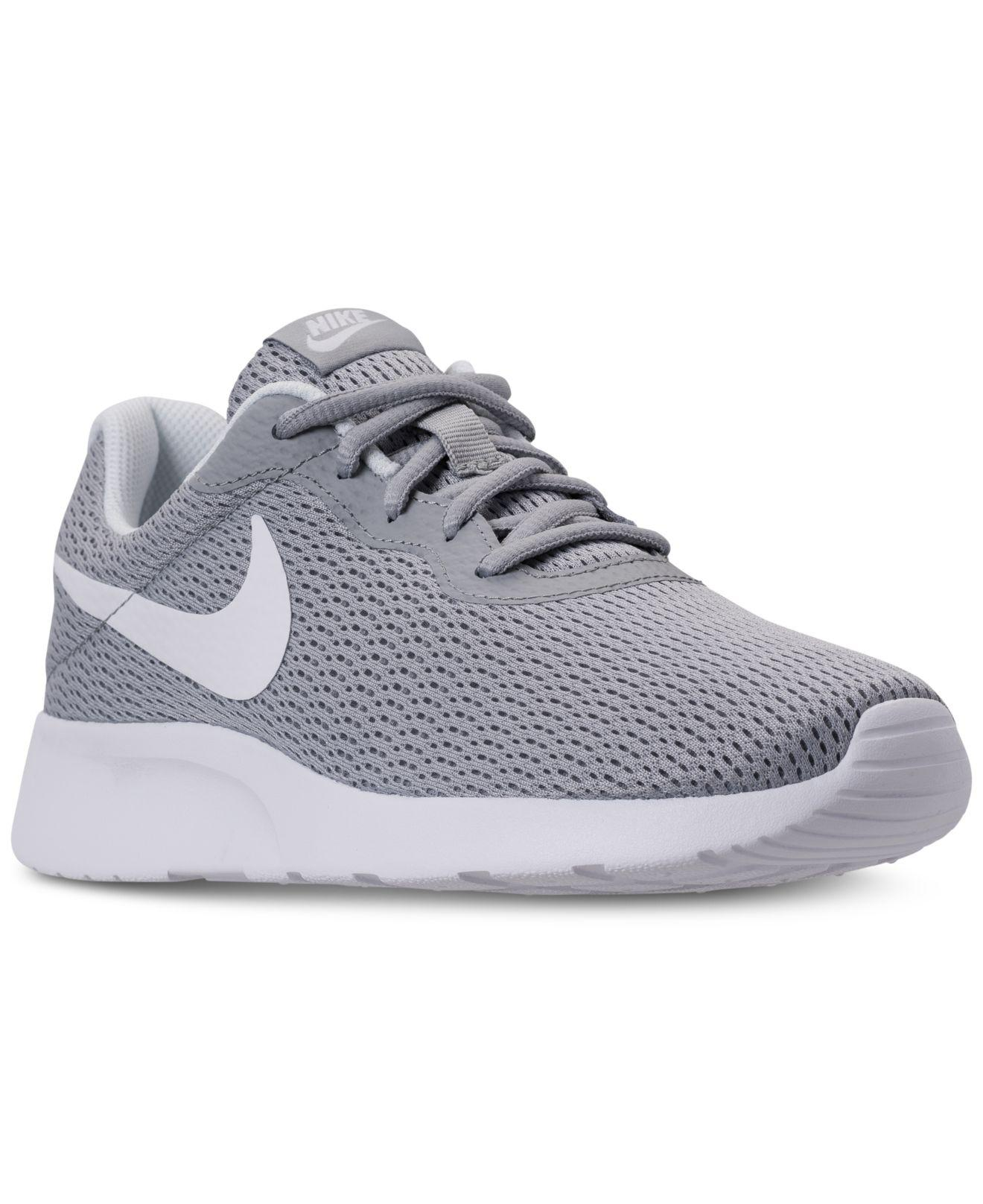 2742d63a790bf Nike. Women s Gray Tanjun Wide Width (2e) Casual Sneakers From Finish Line
