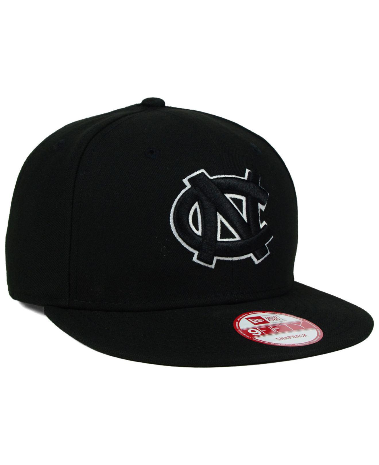newest d2444 548ca ... coupon for ktz north carolina tar heels black white 9fifty snapback cap  for men lyst.
