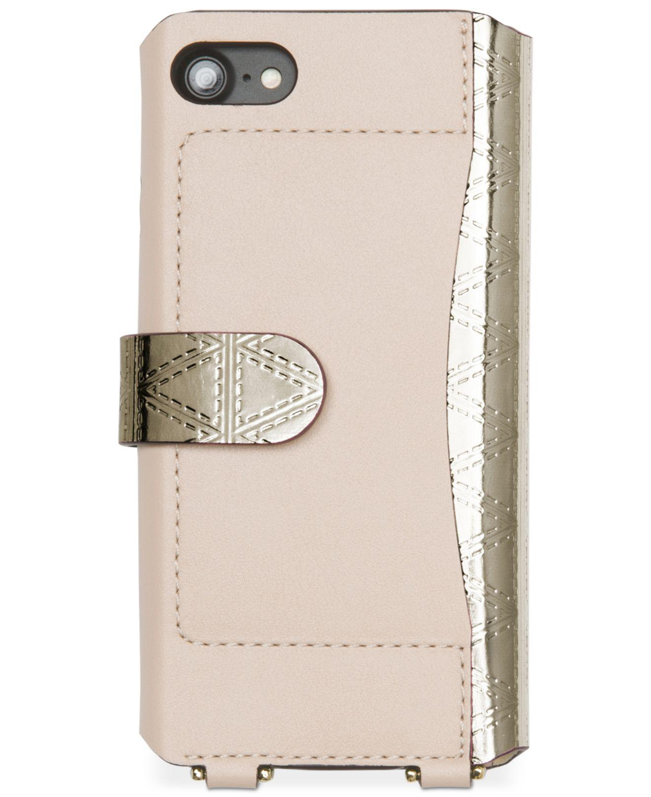 6c31c777b3e9 Michael Kors Iphone 7 Folio Case Crossbody - Lyst