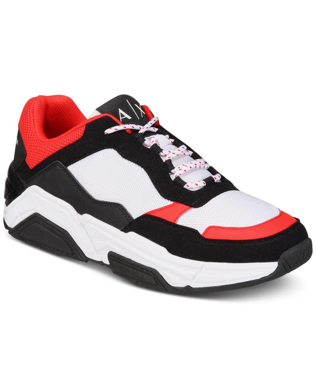 Armani Exchange Dad Sneakers for Men - Lyst