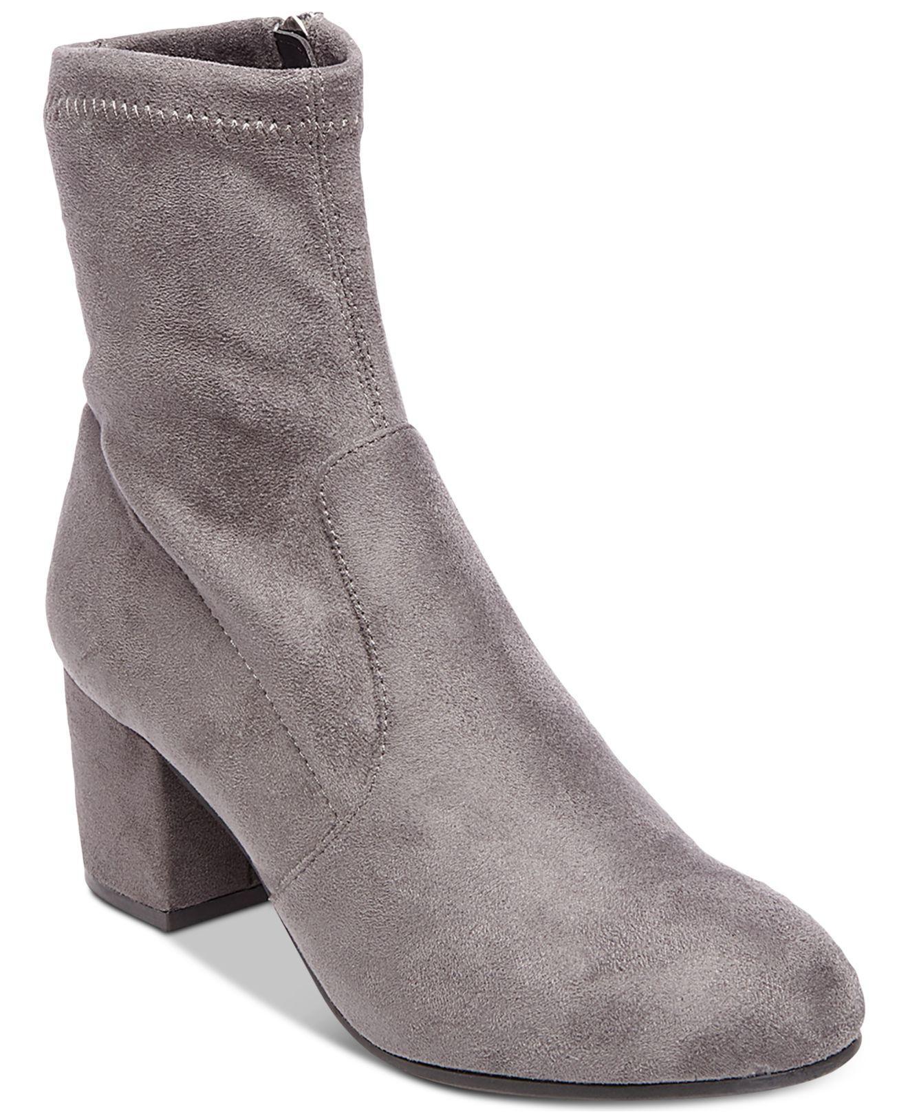 79f67ec83b9 Lyst - Steve Madden Irven Block-heel Booties in Gray