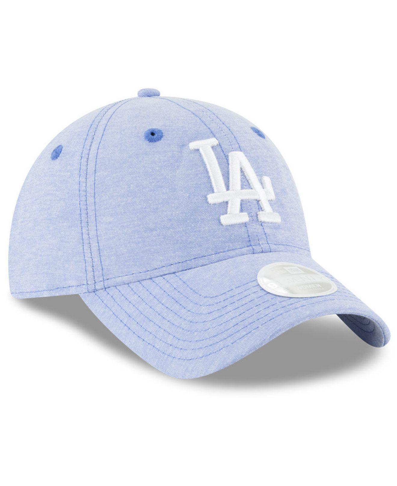 hot sale online 854ef ea2e4 KTZ Los Angeles Dodgers Team Linen 9twenty Strapback Cap in Blue - Lyst