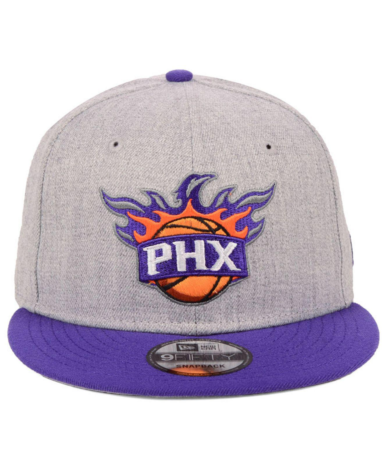 watch 36c65 ef3bf ... best price lyst ktz phoenix suns heather gray 9fifty snapback cap in  gray for men d0b1c
