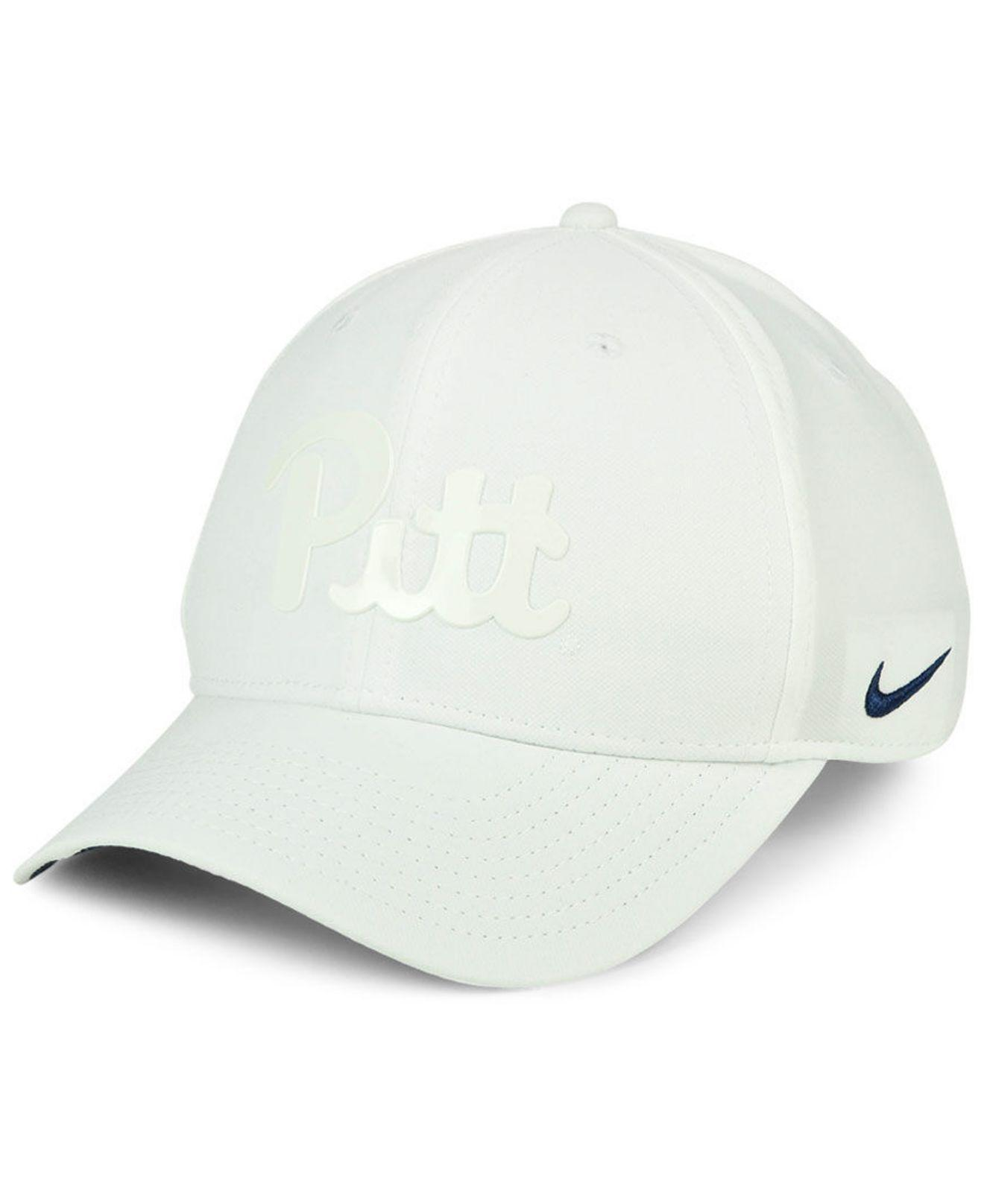 best website 4c6a8 5d4bc Nike. Men s White Pittsburgh Panthers Col Cap