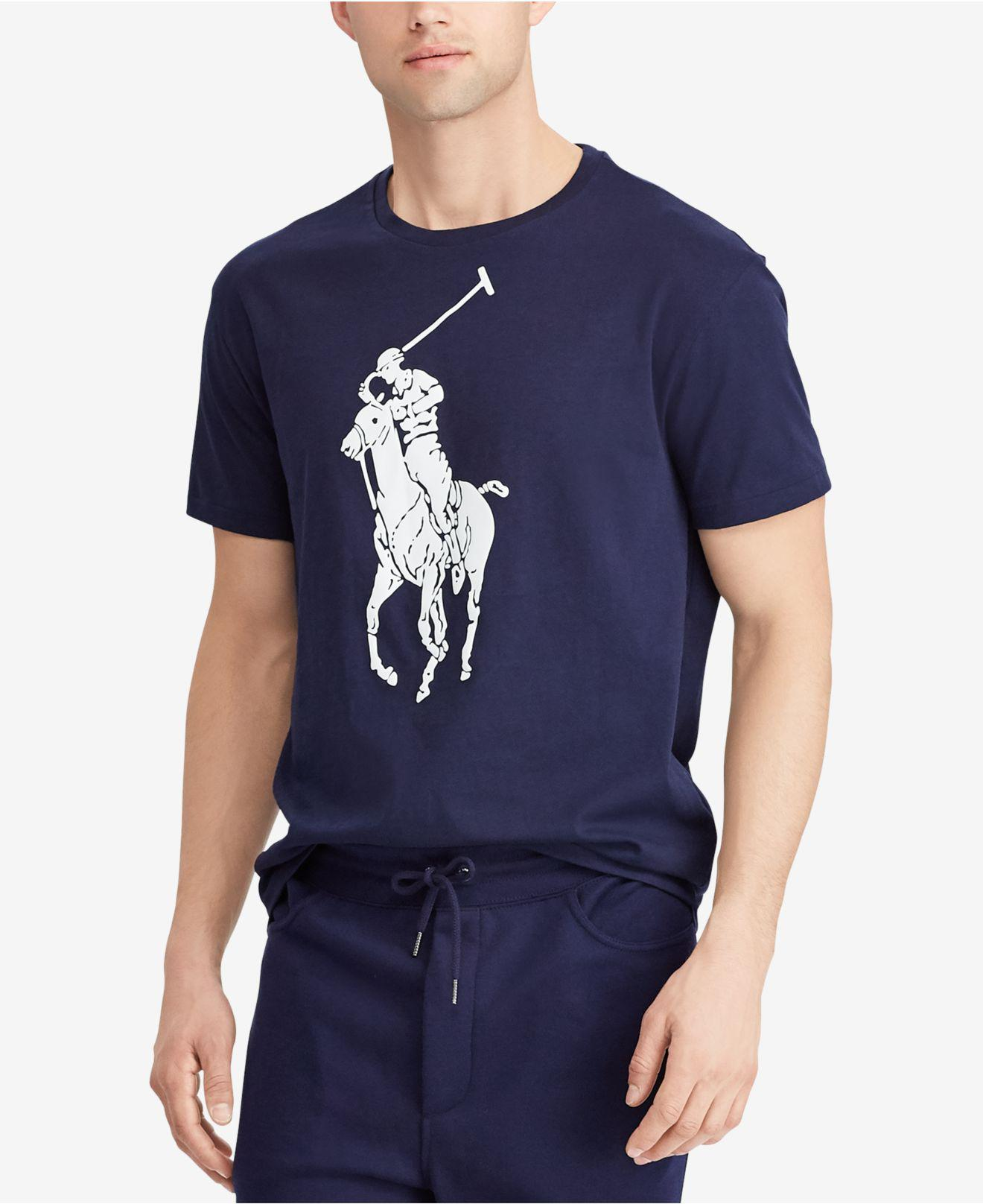 987e7356 Polo Ralph Lauren Classic-fit Big Pony T-shirt in Blue for Men - Lyst