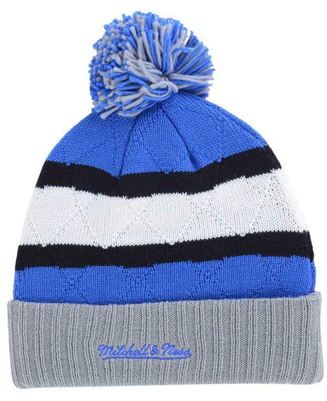 270f467b7c9 ... official store lyst mitchell ness quilted hi five knit hat in blue for  men 28b57 1ac1e