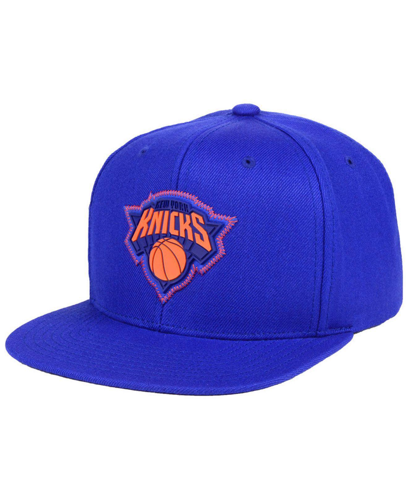 904cae8199b Lyst - Mitchell   Ness New York Knicks Zig Zag Snapback Cap in Blue ...