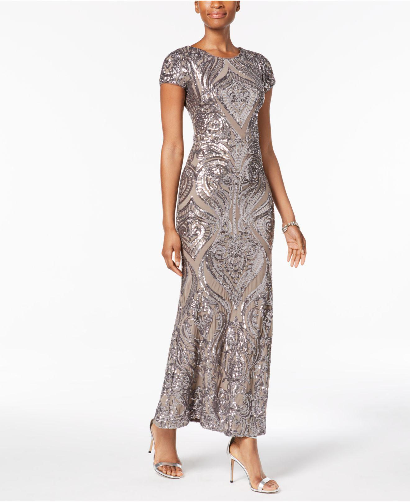 4bd4b3deb581 Betsy & Adam Petite Sequined Gown - Lyst