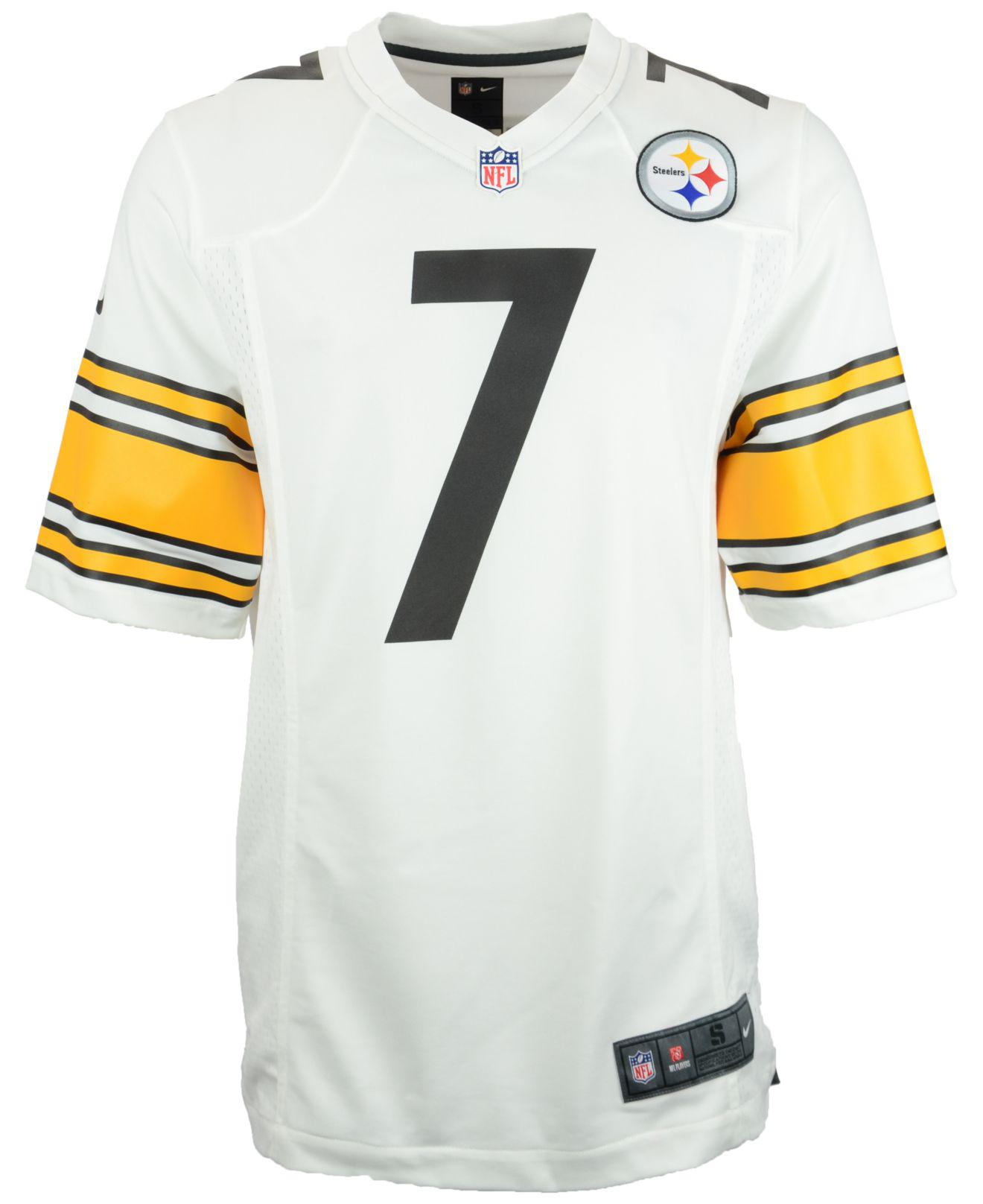 4ea6debbf Lyst - Nike Men s Ben Roethlisberger Pittsburgh Steelers Game Jersey in  White for Men
