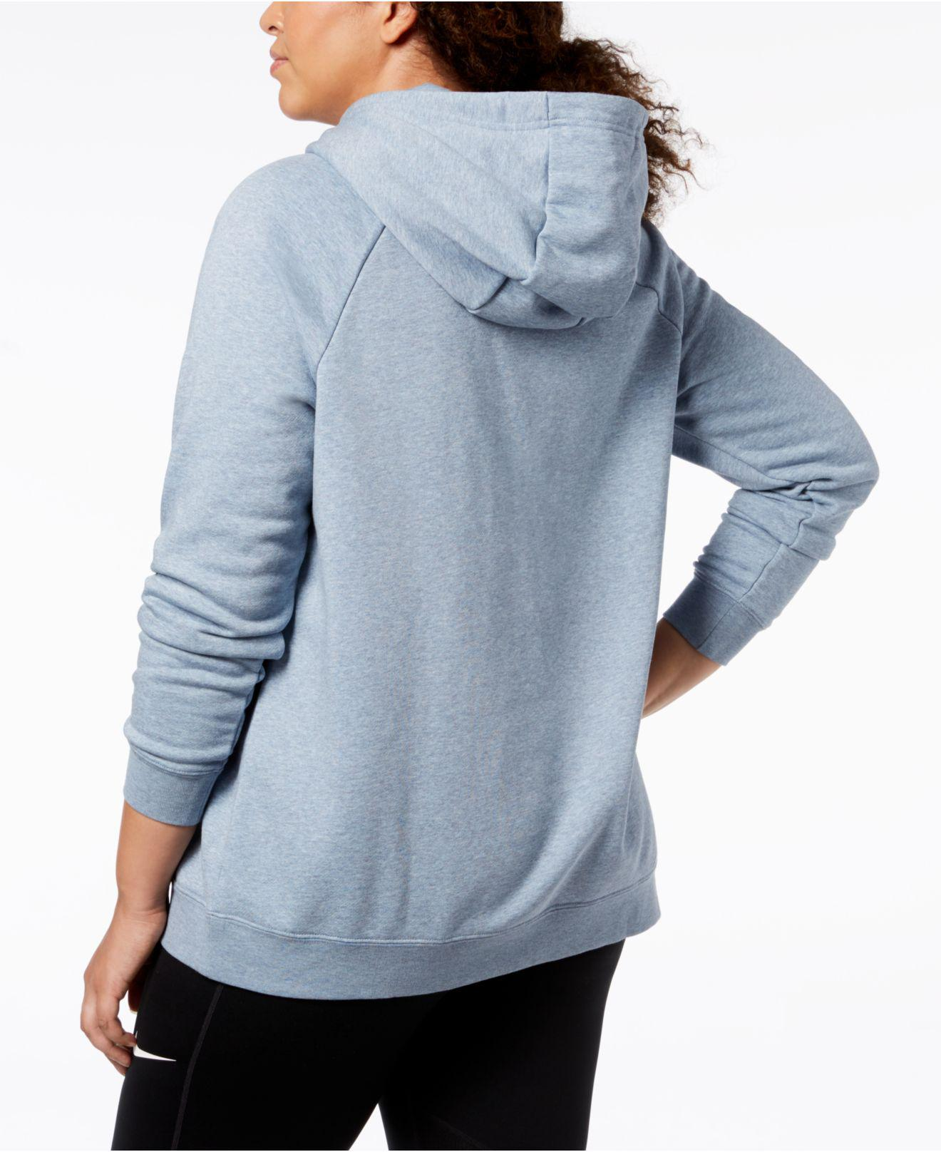d728583999c47 Lyst - Nike Plus Size Sportswear Rally Fleece Hoodie in Blue