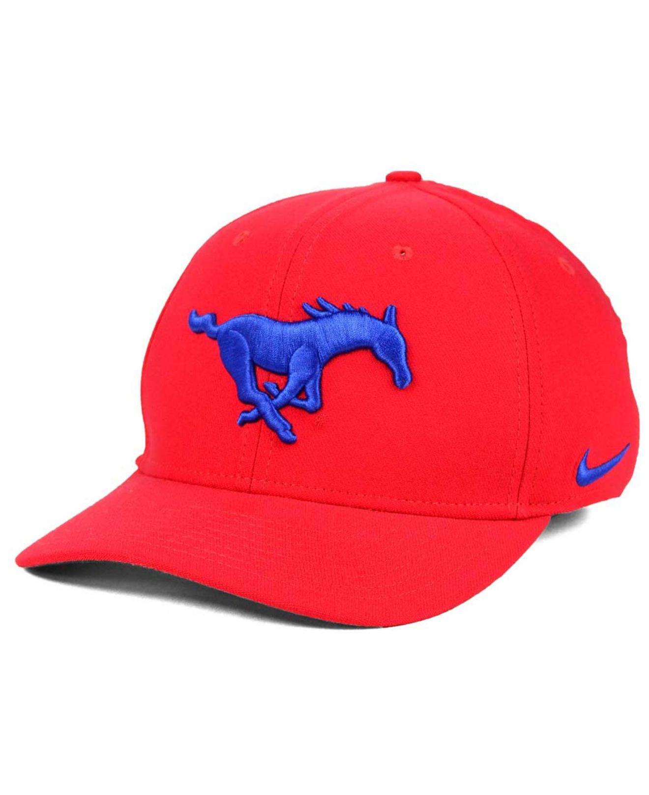 c7a94b34 ... free shipping nike. mens red southern methodist mustangs classic swoosh  cap 17a44 91dd7 ...