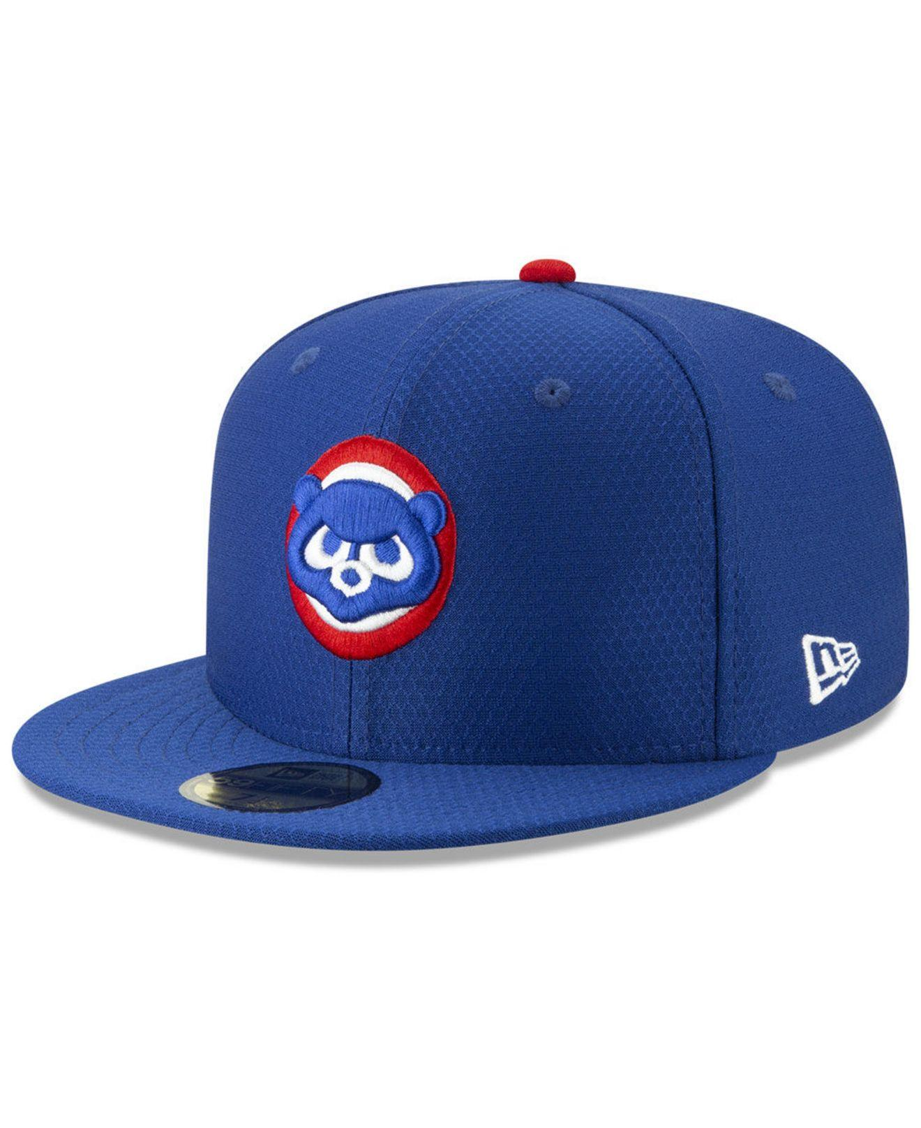 43a3ab2fa Lyst - KTZ Chicago Cubs Batting Practice 59fifty-fitted Cap in Blue ...