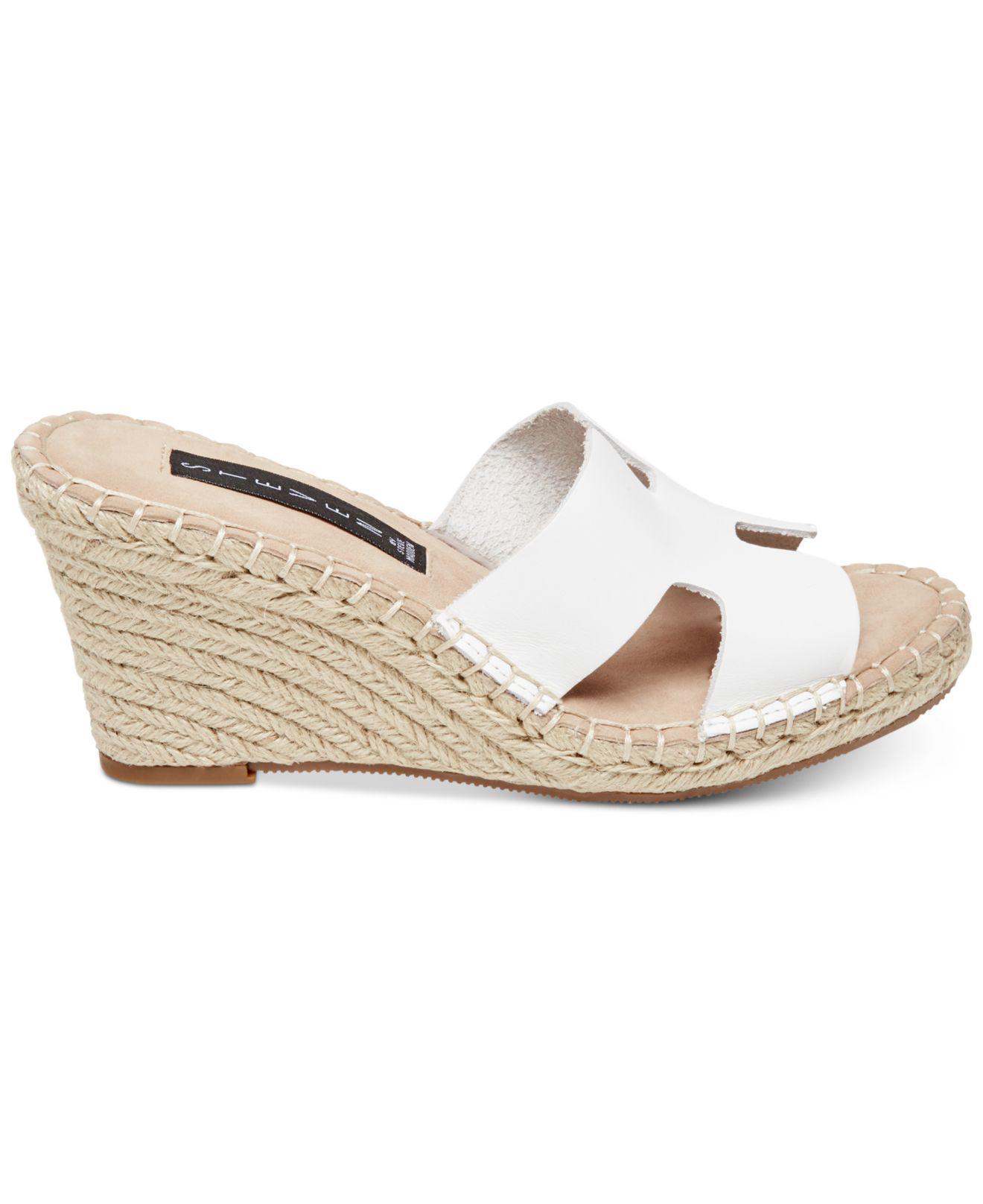 6da51ca2a39 Women's White Eryk Espadrille Wedge Sandals
