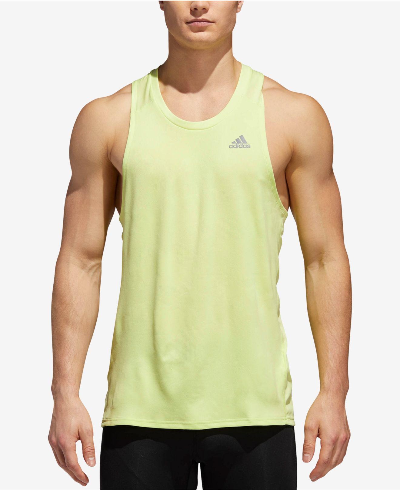 brand new 36687 4bd49 Adidas Yellow Response Climacool® Running Tank Top for men