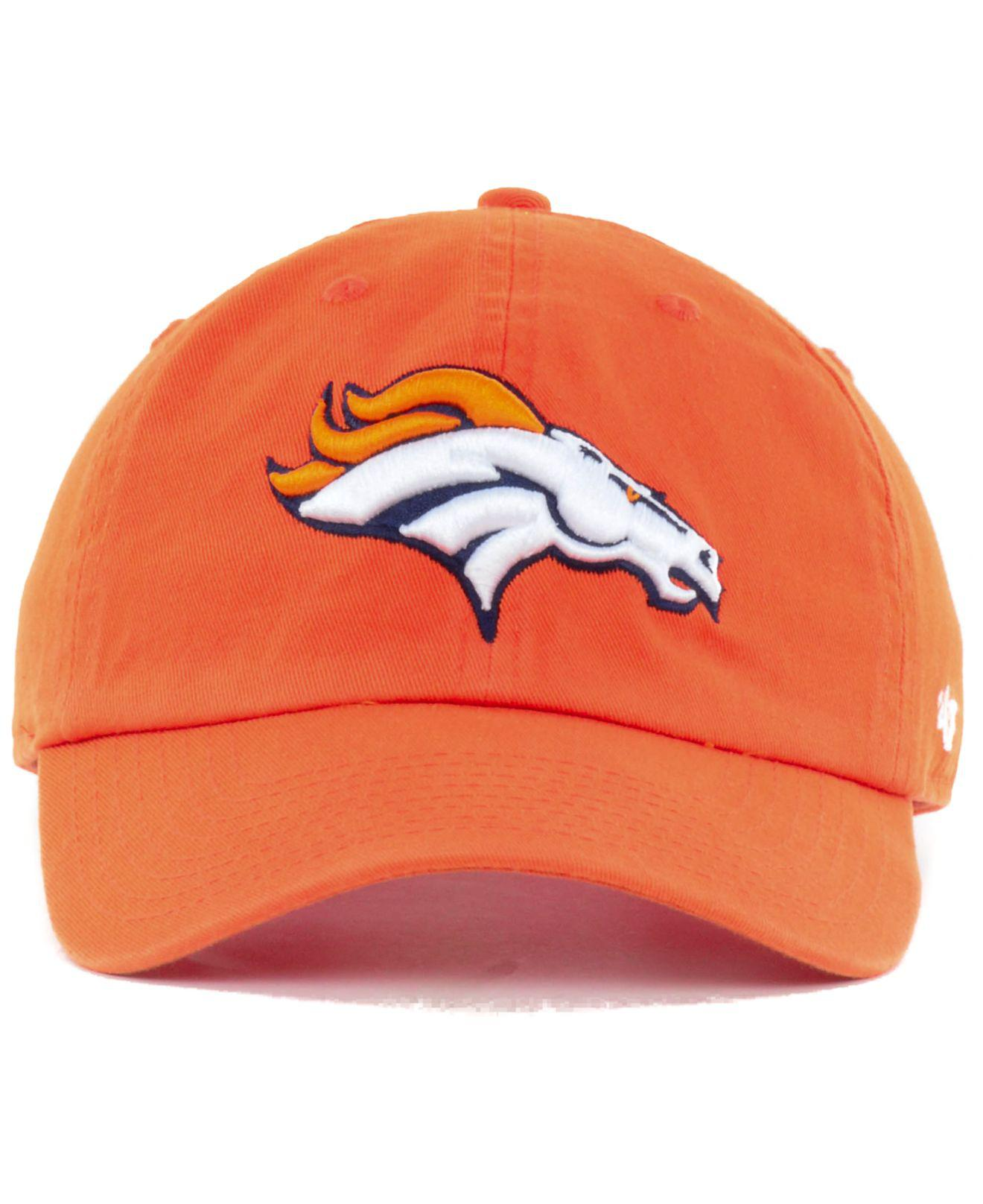 f475ca72a ... cheapest lyst 47 brand denver broncos clean up cap in orange for men  f60ef 5a937