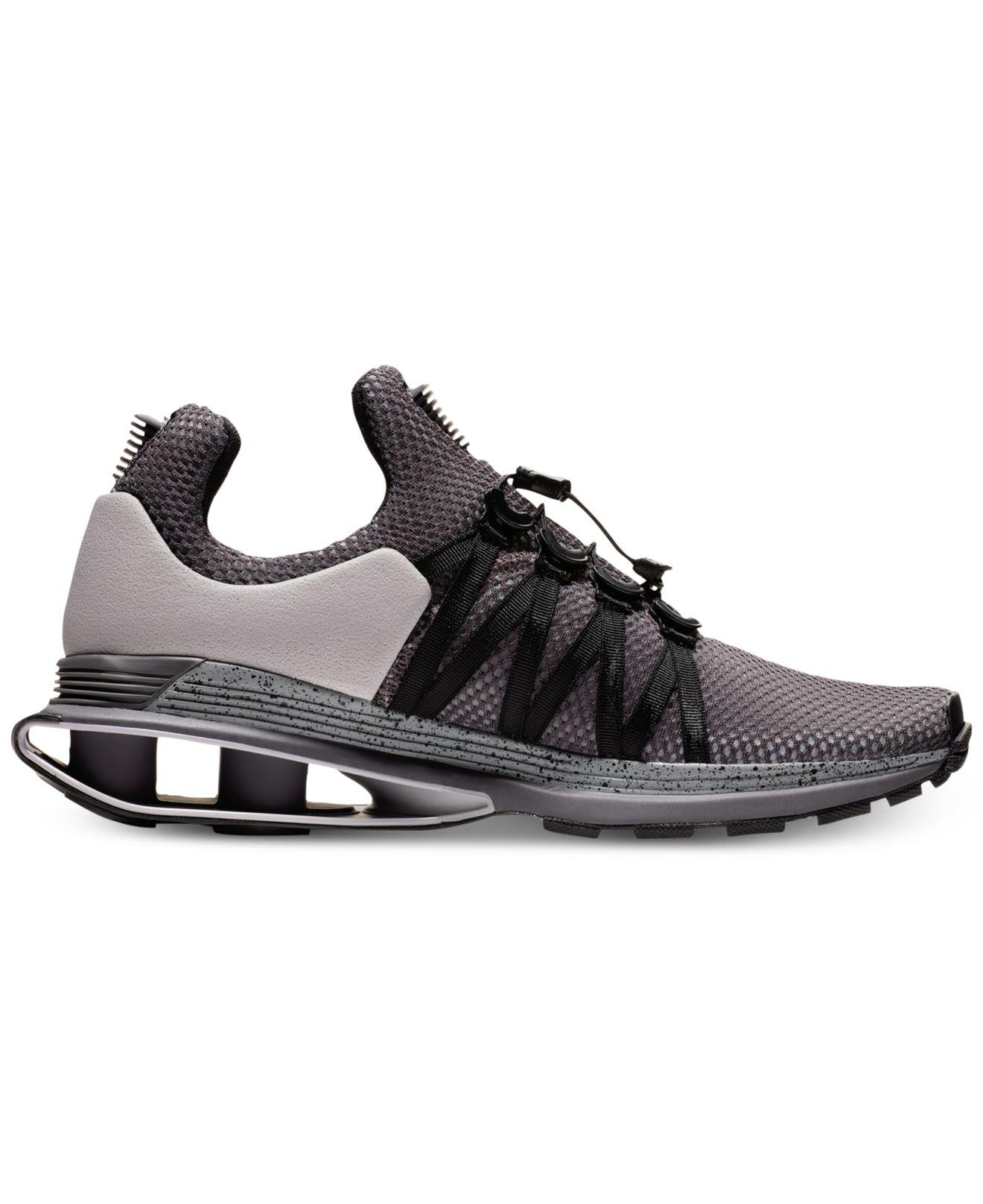 d1392151f8ba81 Lyst - Nike Shox Gravity Casual Sneakers From Finish Line in Black ...