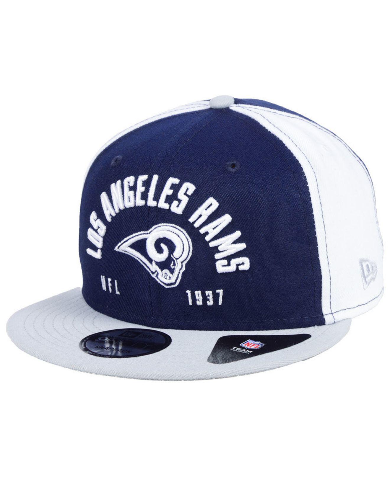 sneakers for cheap 61d4e 954cf KTZ Los Angeles Rams Establisher 9fifty Snapback Cap in Blue for Men ...