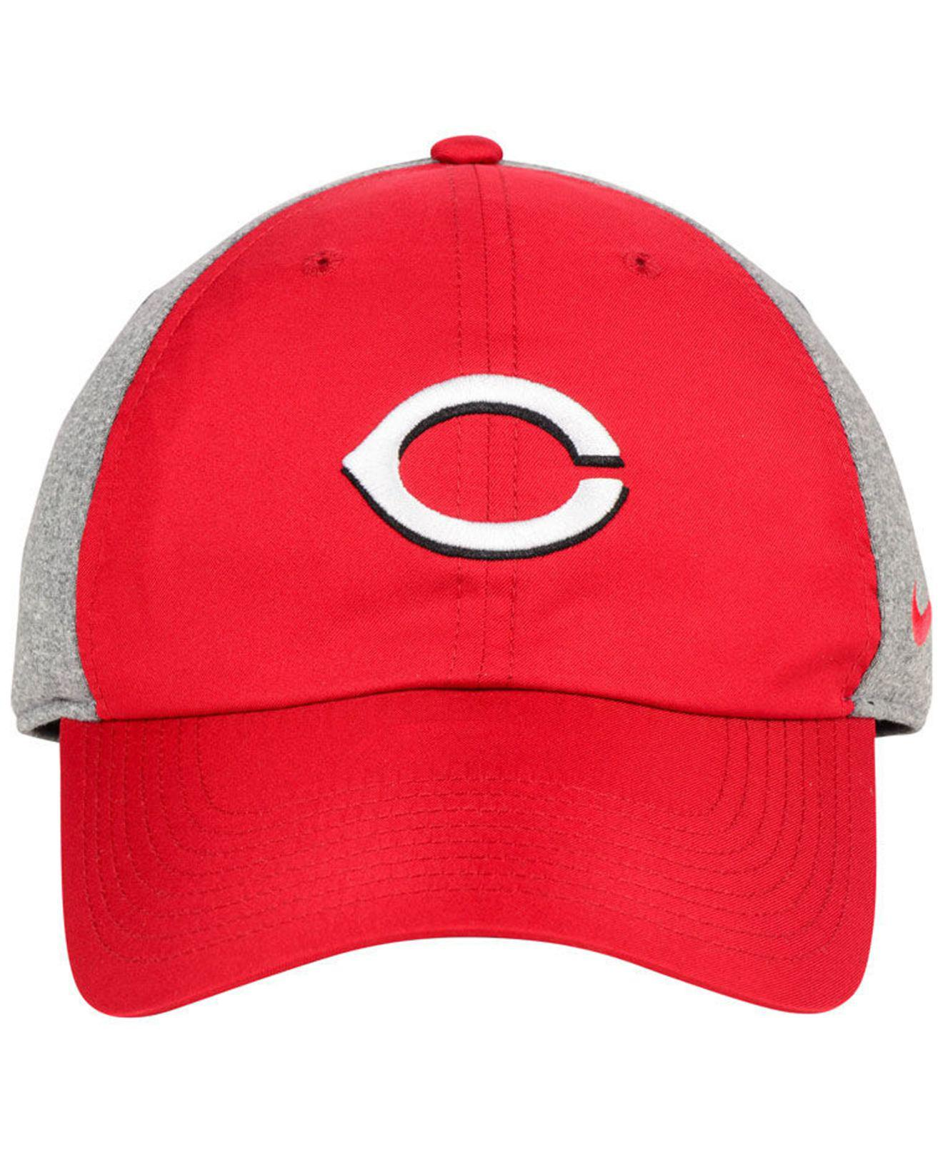 quality design 66785 61b00 ... where can i buy lyst nike cincinnati reds new day legend cap in red for  men