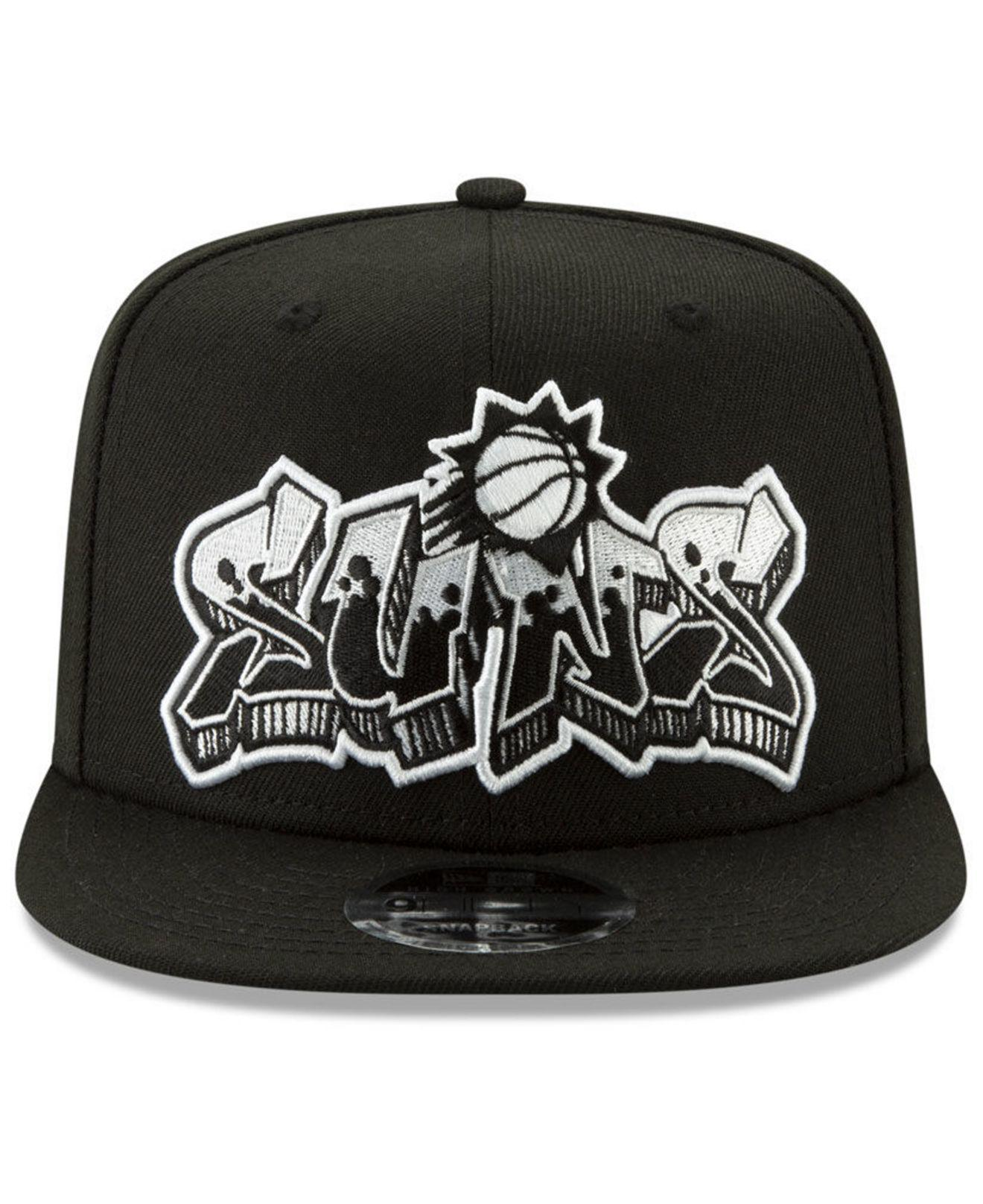 size 40 9b59c 35623 get lyst ktz phoenix suns retroword black white 9fifty snapback cap in  black for men bb1e7