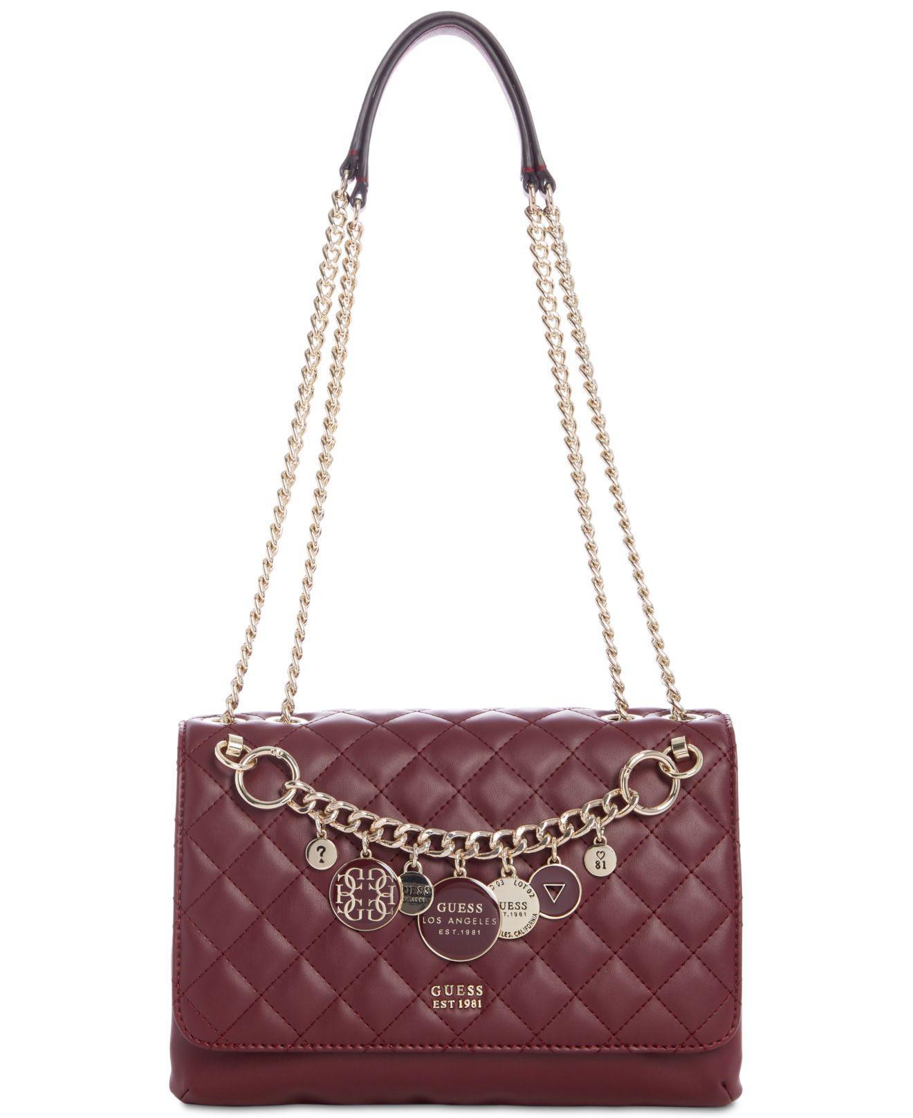the latest f5e57 c4b56 Guess Multicolor Victoria Chain Shoulder Bag