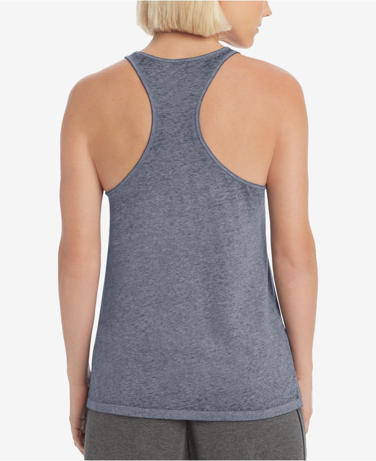 c0ed2bbda9101 Lyst - Champion Authentic Wash Racerback Tank Top in Blue