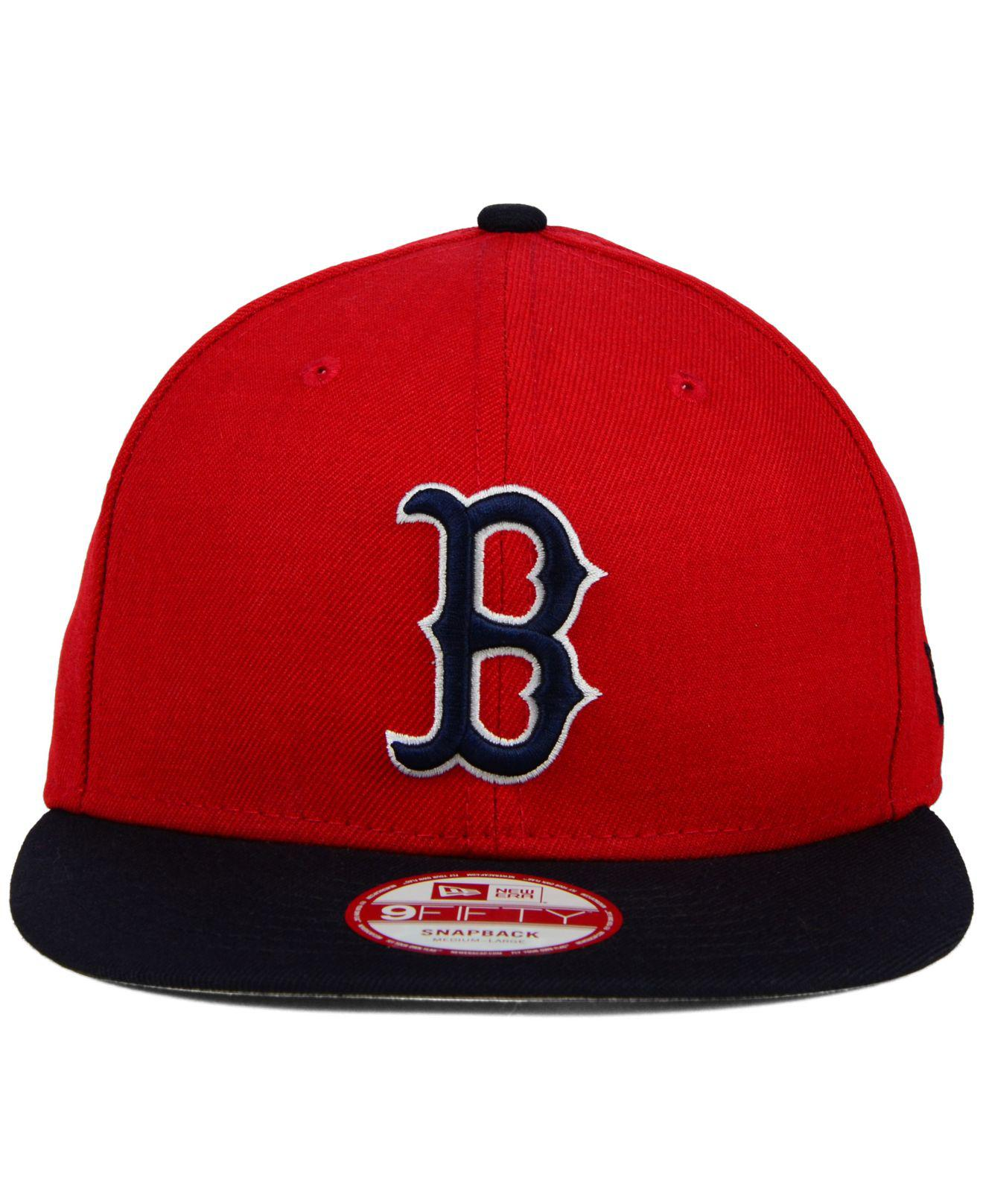 8002aa47dd3 Lyst - KTZ Boston Red Sox 2-tone Link 9fifty Snapback Cap in Red for Men