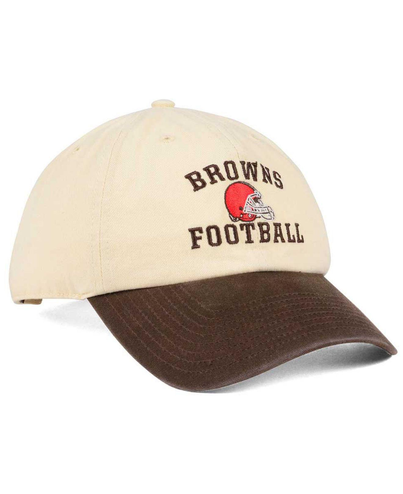 2a6f65583cd2e6 germany lyst 47 brand cleveland browns steady two tone clean up cap for men  c2dd6 05871