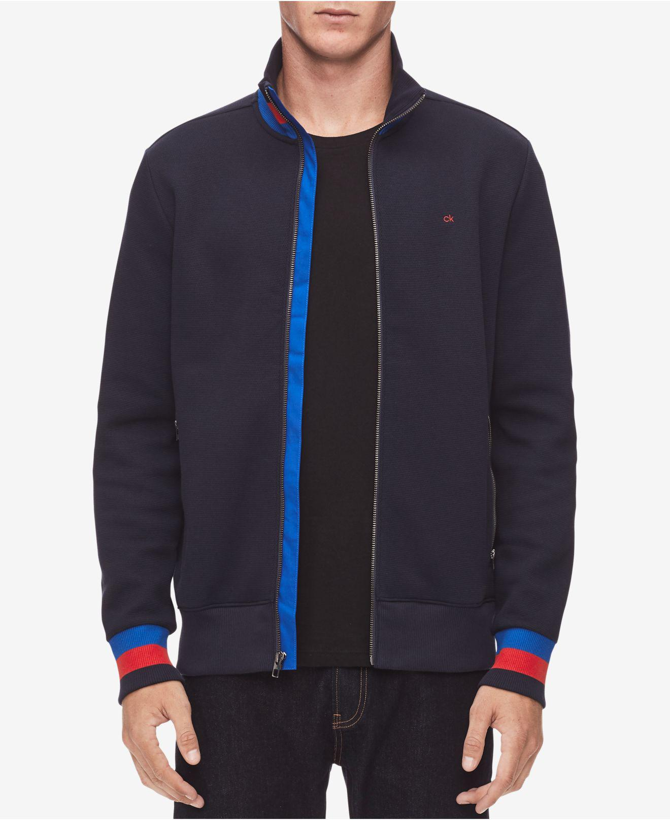 dc1d4bd61607 Lyst - Calvin Klein Full-zip Sweater in Blue for Men
