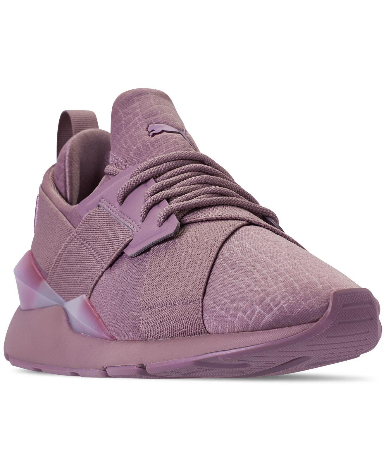 eb73fd7e242b Lyst - PUMA Muse Iridescent Casual Sneakers From Finish Line in Purple