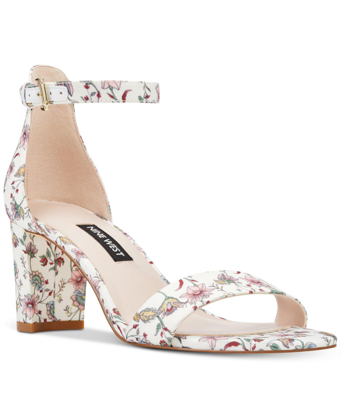 43600398e Lyst - Nine West Pruce Block-heel Sandals