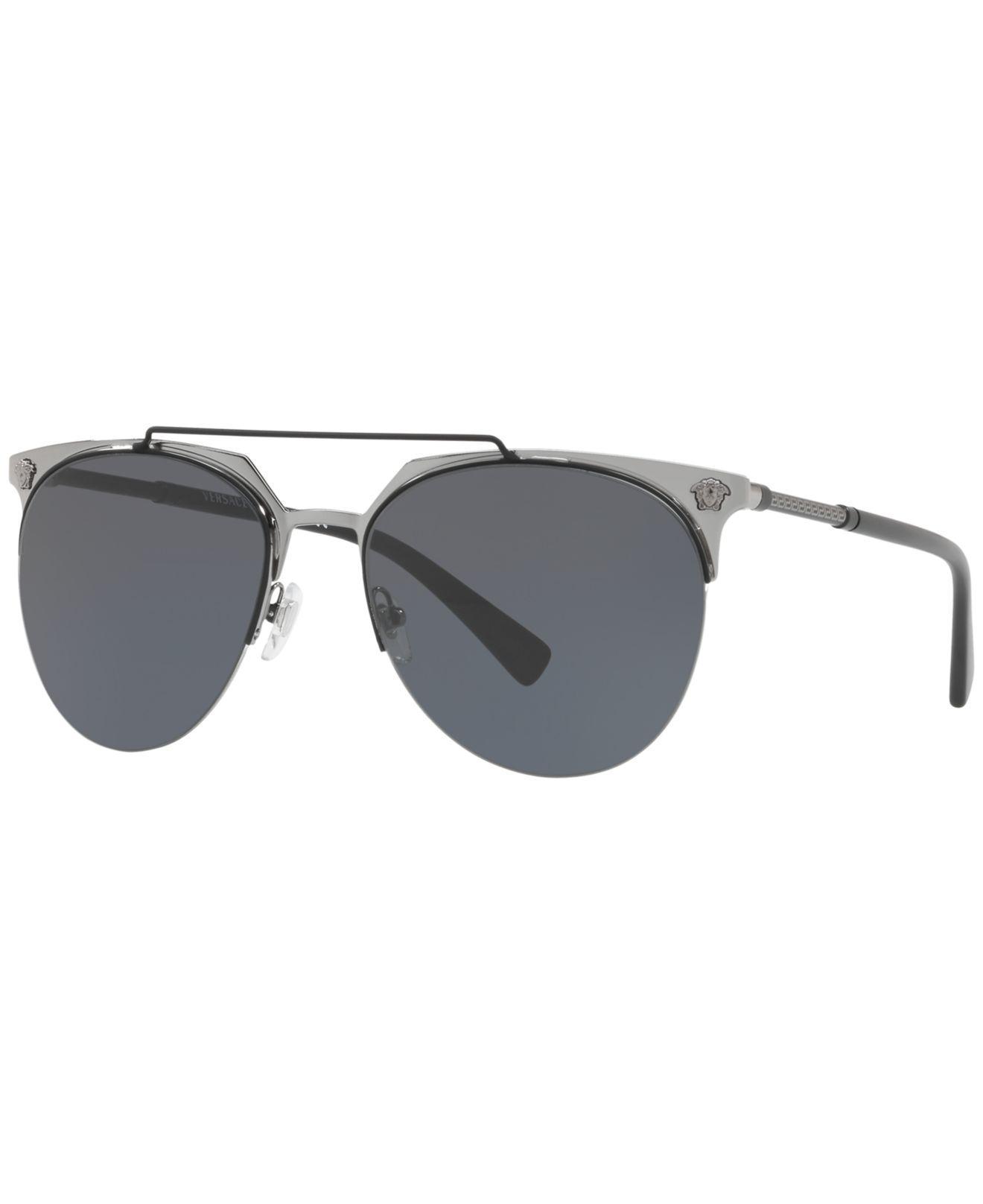 b68372732e Versace. Men s Gray Sunglasses ...
