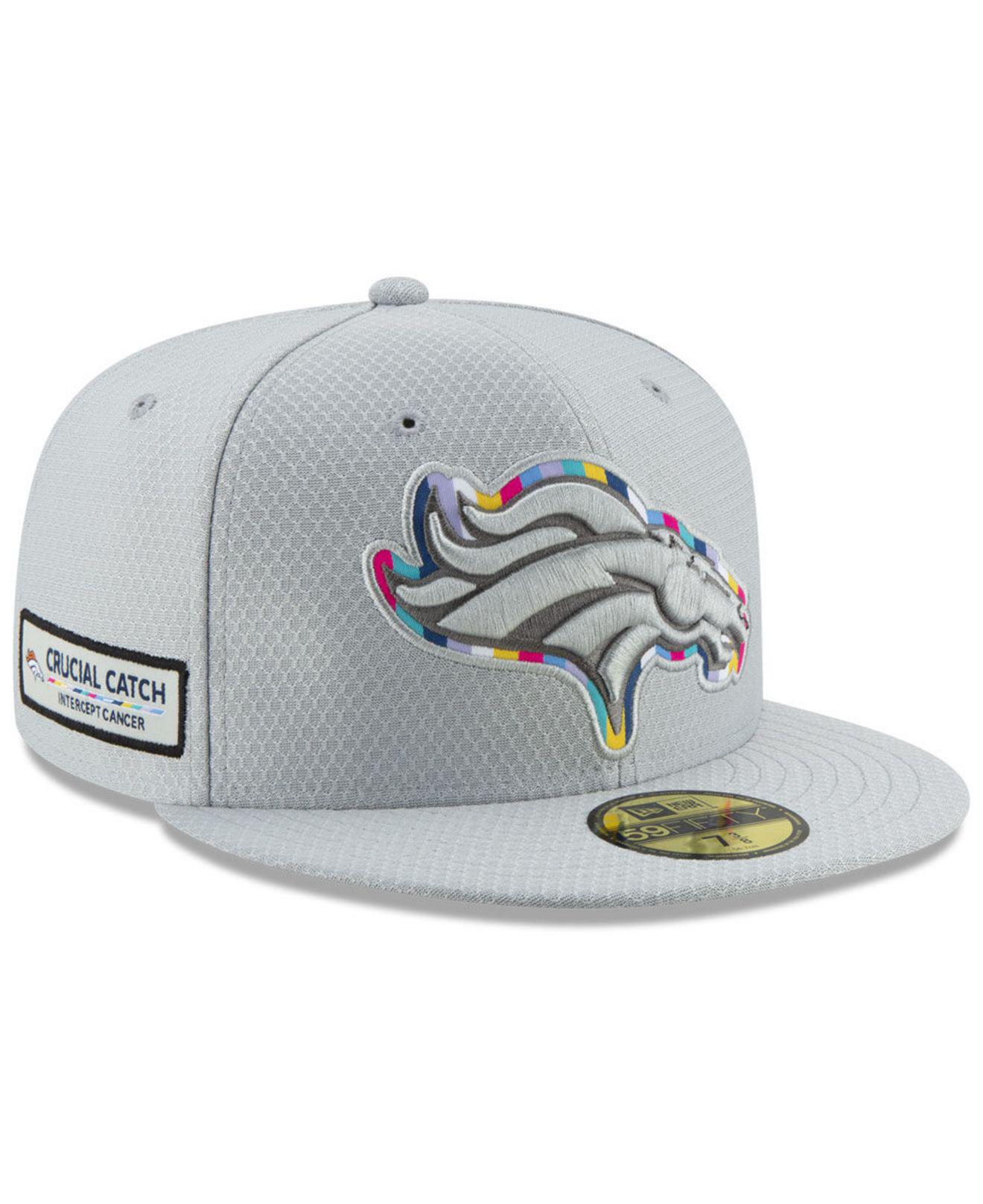 Lyst - KTZ Denver Broncos Crucial Catch 59fifty Fitted Cap in Gray ... d4eefcd9594b