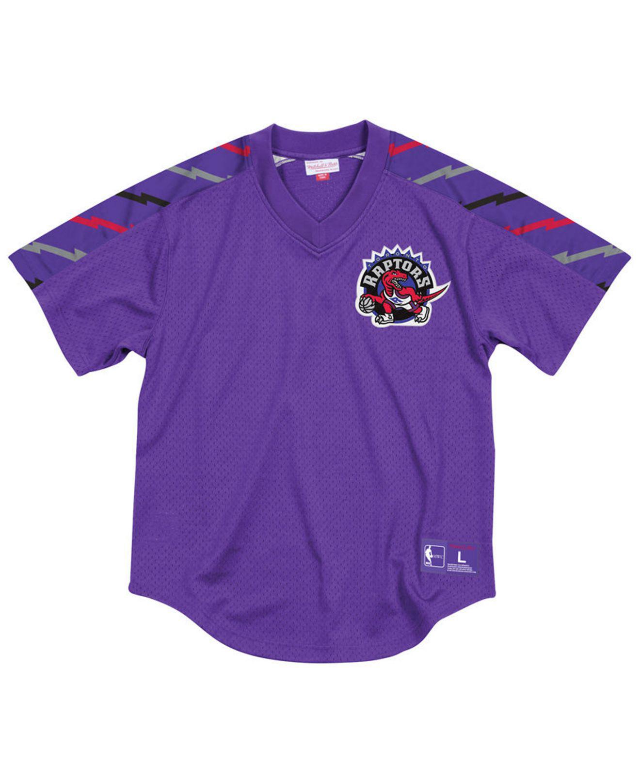 26a02c6f34d3b8 Mitchell   Ness. Men s Purple Toronto Raptors Winning Team Mesh V-neck  Jersey