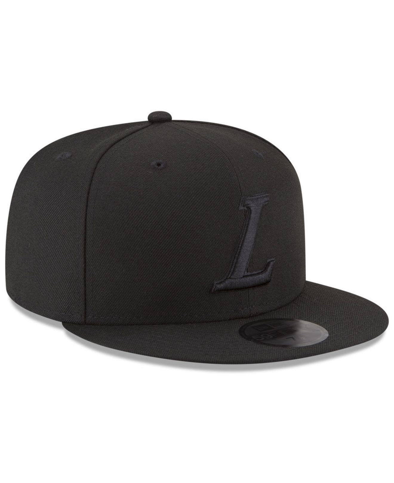 check out 1e945 84d1c 2b4a6 620ad  netherlands ktz los angeles lakers alpha triple black 59fifty  fitted cap for men lyst. view