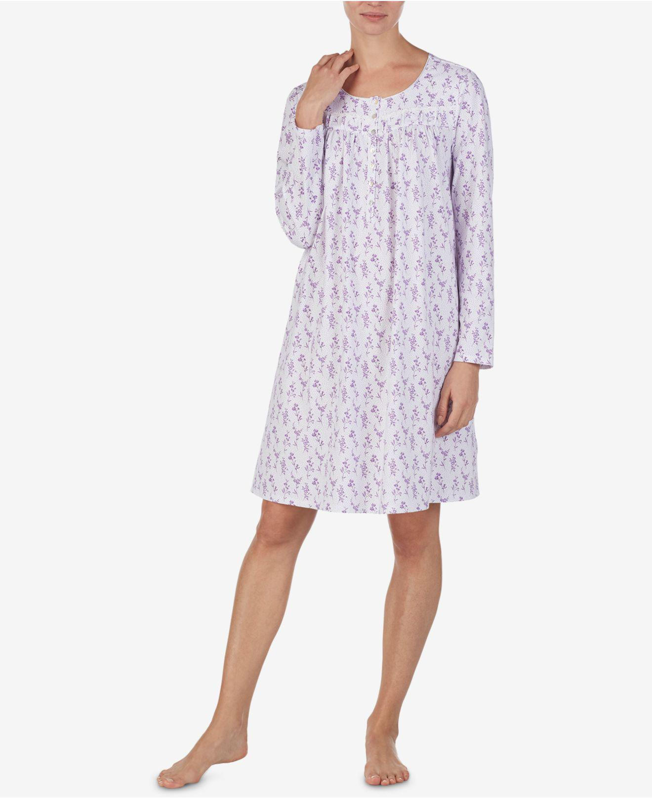 ca0ff9281b Eileen West. Women s Printed Cotton Knit Nightgown