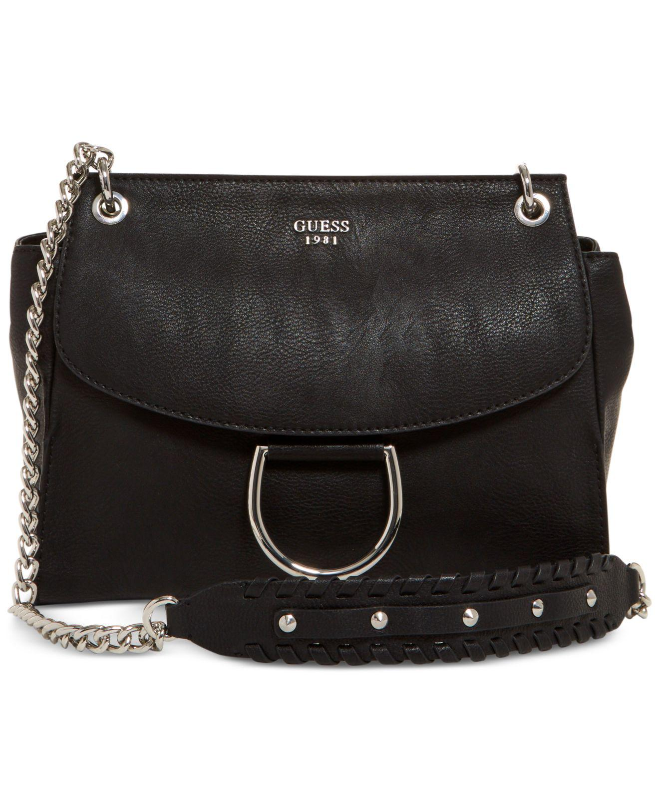 9c6fce64b1 Lyst - Guess Fynn Small Flap Crossbody in Black