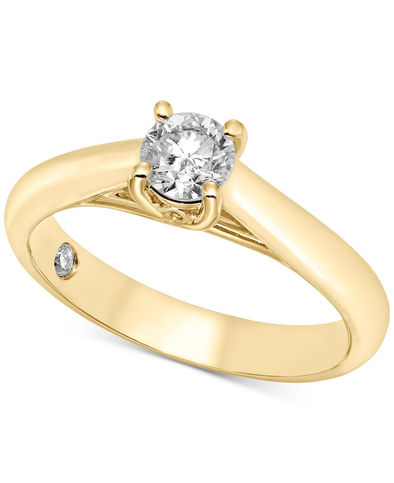 Macy's Diamond Solitaire Engagement Ring (1/2 Ct. T