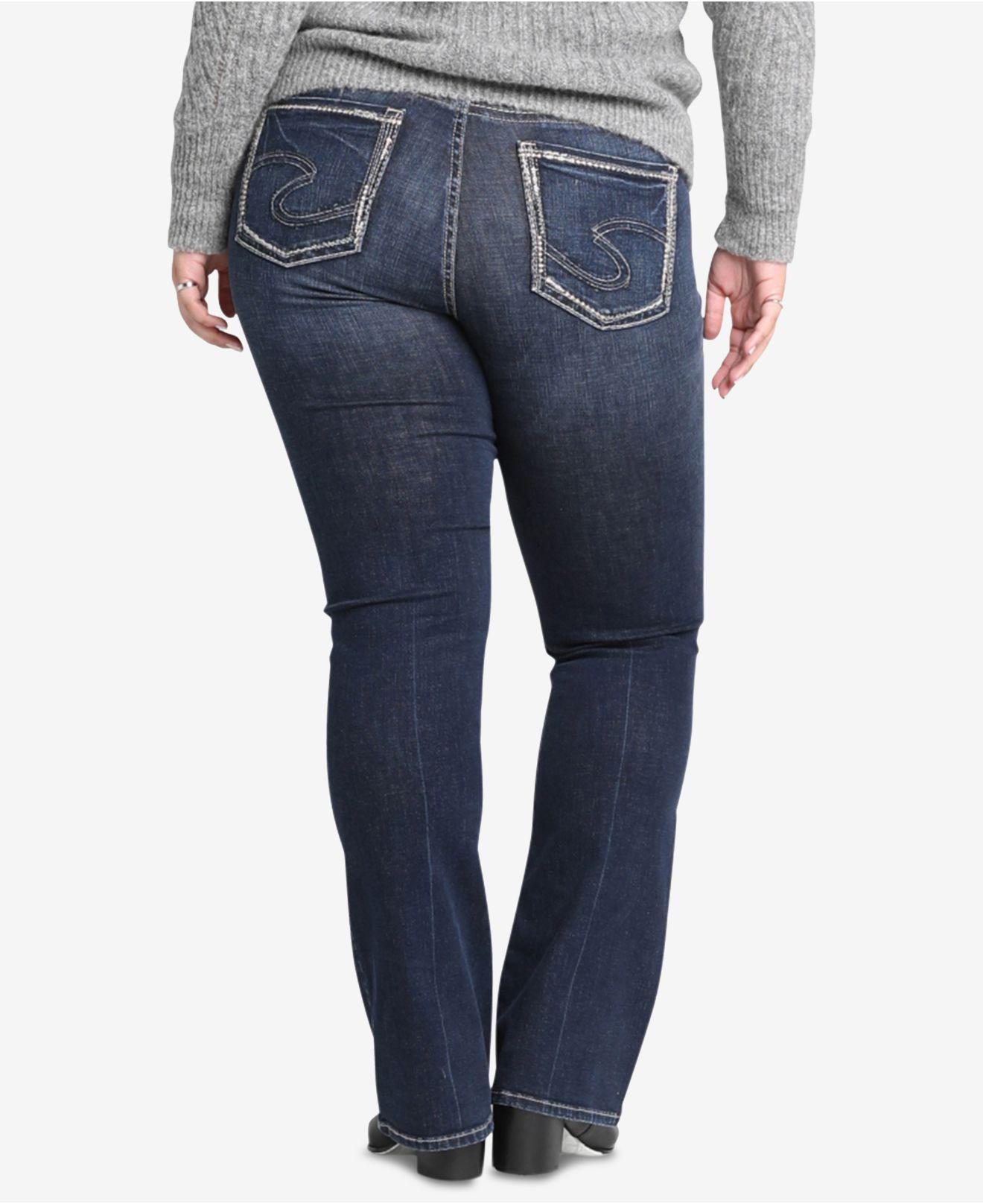 0a7f1e0d Lyst - Silver Jeans Co. Plus Size Avery High-rise Curvy-fit Boot-cut Jeans  in Blue