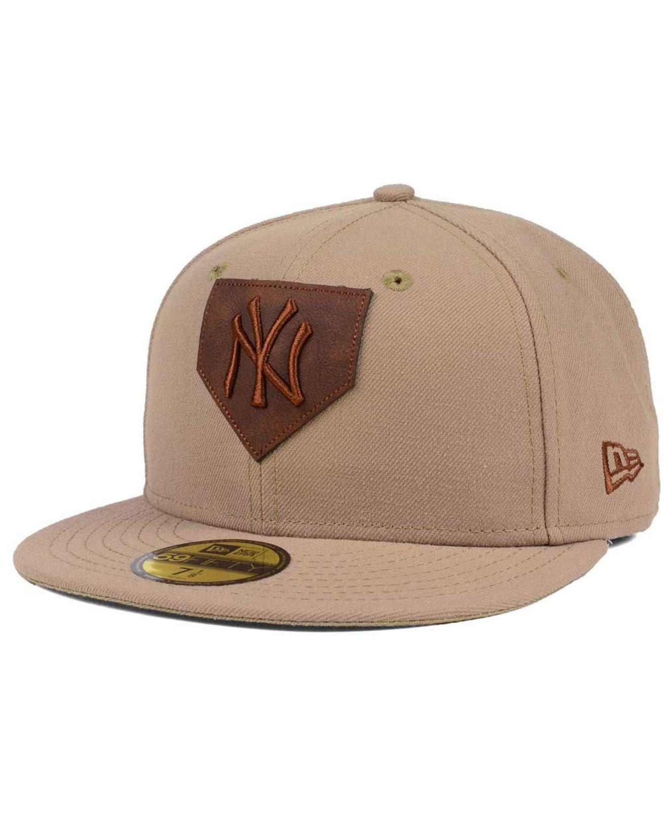 5ef4adfb013 Lyst - KTZ The Logo Of Leather 59fifty Fitted Cap in Brown for Men